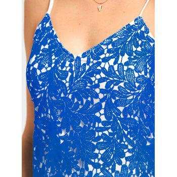 Ombre Lace Cami Dress - BLUE BLUE