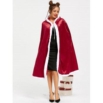 Christmas Santa Claus Hooded Cape - M M
