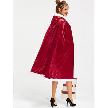 Christmas Santa Claus Hooded Cape - RED L