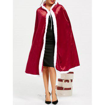 Christmas Santa Claus Hooded Cape - RED XL