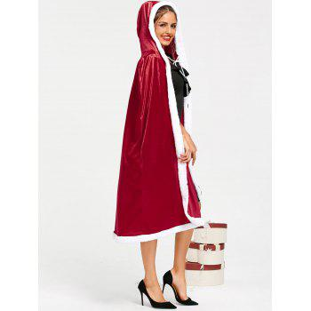 Christmas Santa Claus Hooded Cape - RED 2XL