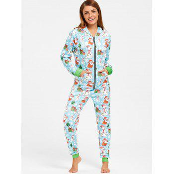 Snowman Christmas One Piece Pajama - COLORMIX COLORMIX