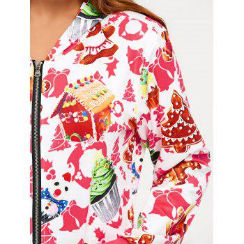Hooded One Piece Christmas Pajama - L L