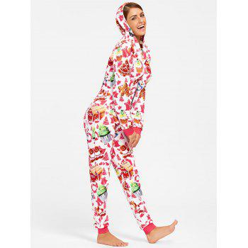 Hooded One Piece Christmas Pajama - COLORMIX COLORMIX