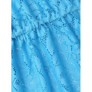Lace Cami Cover Up Dress - BLUE BLUE