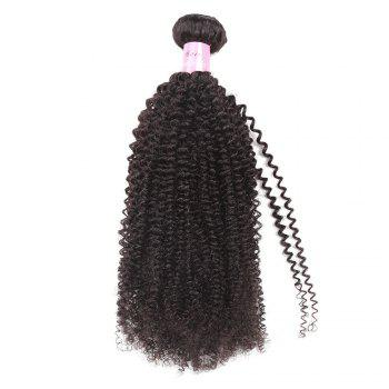 1Pc Peruvian Shaggy Afro Kinky Curly Human Hair Weave - NATURAL BLACK 16INCH