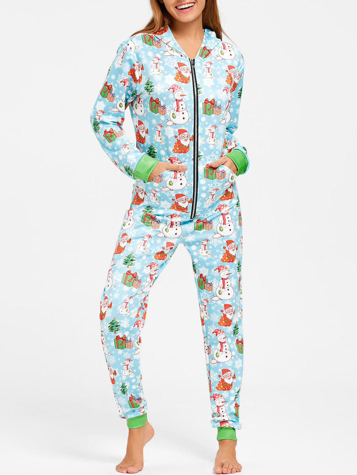 Snowman Christmas One Piece Pajama - COLORMIX M