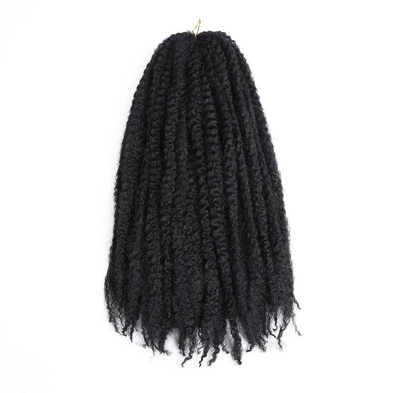 Long Bouffant Afro Kinky Curly Braids Synthetic Hair Weave - Noir