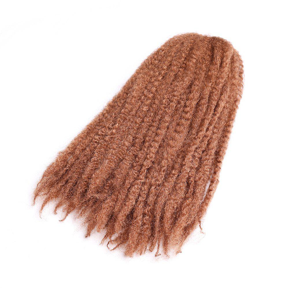 Long Bouffant Afro Kinky Curly Braids Synthetic Hair Weave - PEARL KUMQUAT
