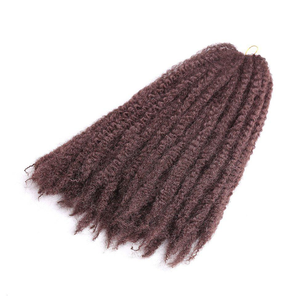 Long Bouffant Afro Kinky Curly Braids Synthetic Hair Weave - Brun rouge