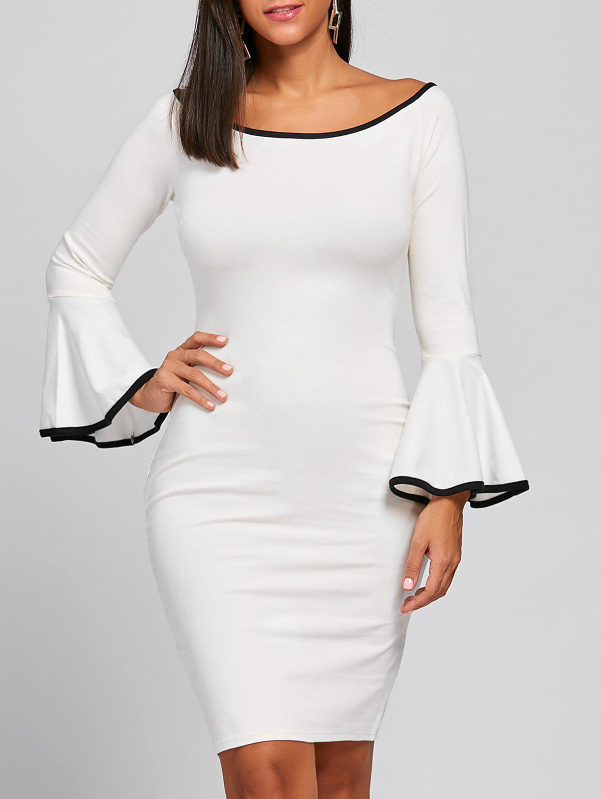 Robe Bodycon - Blanc 2XL
