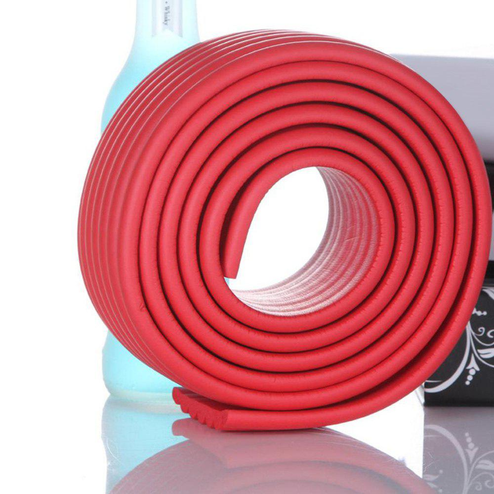 2M Baby Table Protector Flexible Foam Rubber Guard Strip - Rouge 200*8*0.8CM