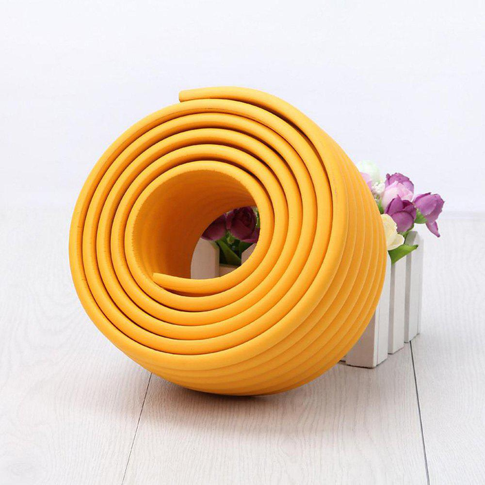 2M Baby Table Protector Flexible Foam Rubber Guard Strip - Orange Jaune 200*8*0.8CM