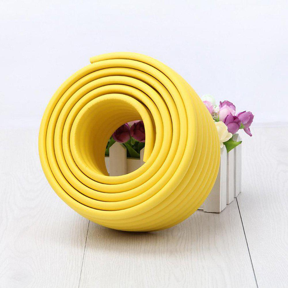 2M Baby Table Protector Flexible Foam Rubber Guard Strip - Jaune 200*8*0.8CM