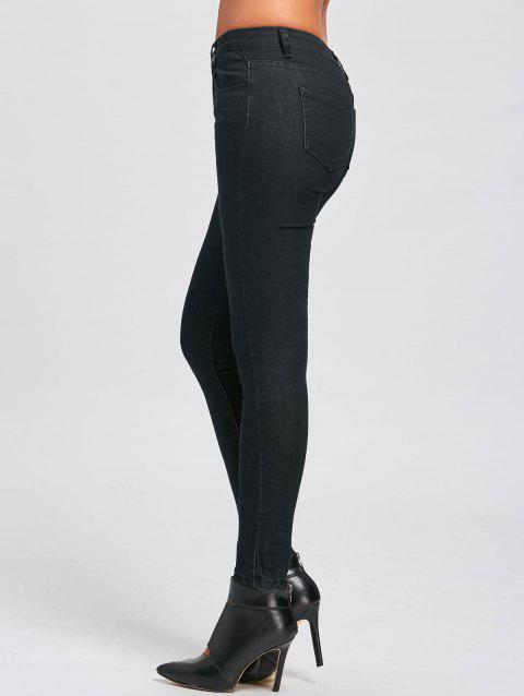 Skinny High Waisted Jeans - BLACK M