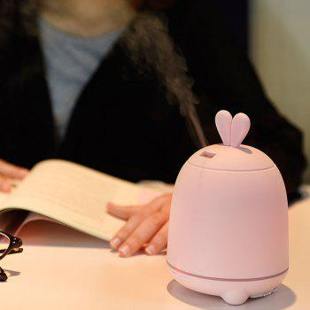 7 Colors Change Rabbit Design Air Humidifier - PINK PINK