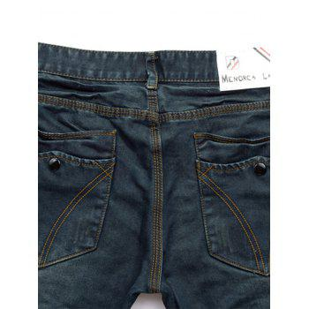 Straight Leg Zip Fly Pockets Jeans - 32 32
