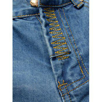 Straight Leg Colored Distressed Jeans - 38 38