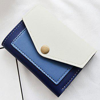 Bi Fold Contrasting Color Wallet - BLUE