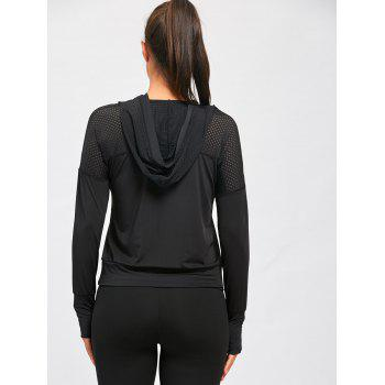 Sports Breathable Sheer Hooded T-shirt - M M