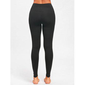 Criss Cross High Rise Leggings de sport - Noir M