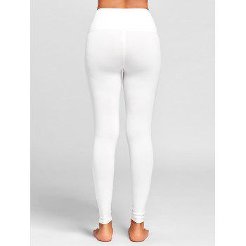 Criss Cross High Rise Sports Leggings - WHITE WHITE