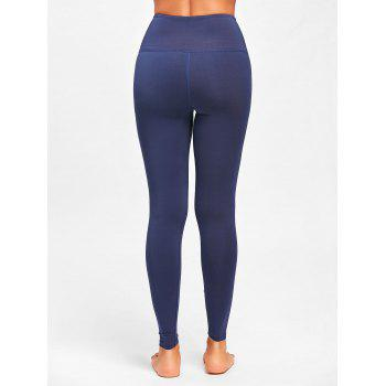 Criss Cross High Rise Leggings de sport - Bleu Violet L