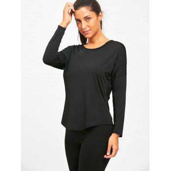 See Through Sports Long Sleeve T-shirt - BLACK M