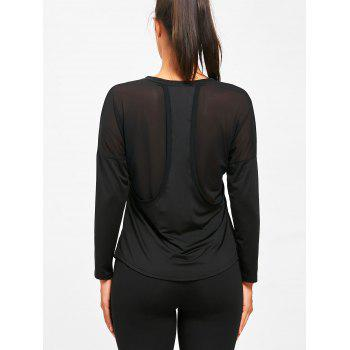See Through Sports Long Sleeve T-shirt - BLACK L
