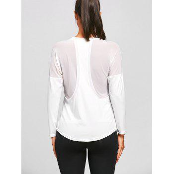T-shirt à manches longues See Through Sports - Blanc L