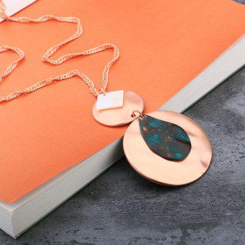 Alloy Geometric Leaf Alloy Pendant Necklace - ROSE GOLD