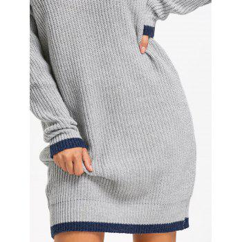 Drop Shoulder Chunky Sweater Dress - ONE SIZE ONE SIZE