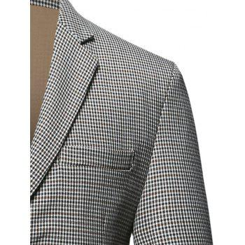 Flap Pocket Single Breasted Check Blazer - CHECKED XL