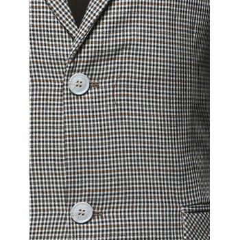 Flap Pocket Single Breasted Check Blazer - Carré XL