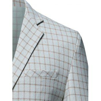 Casual Flap Pocket Lapel Checked Blazer - XL XL