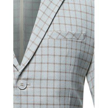 Casual Flap Pocket Lapel Checked Blazer - M M