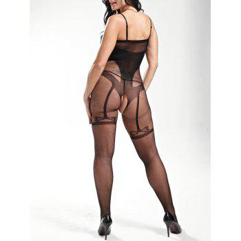 Sheer Slip Fishnet Bodystockings - ONE SIZE ONE SIZE