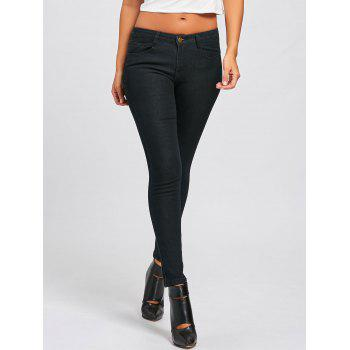Skinny High Waisted Jeans - BLACK S