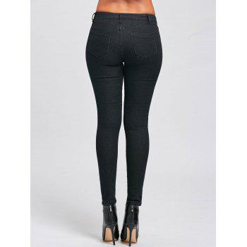Skinny High Waisted Jeans - BLACK XL