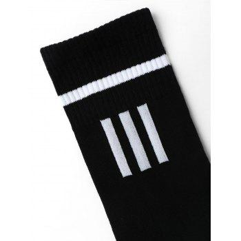 Letter Pattern Crew Socks - ONE SIZE ONE SIZE