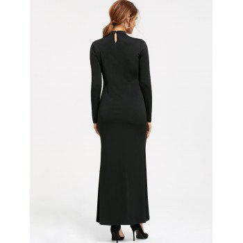 Enjoliveur Zip Up Maxi Dress - Noir 2XL