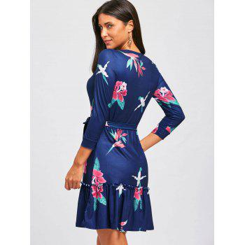 Casual Flounce Floral Dress - S S