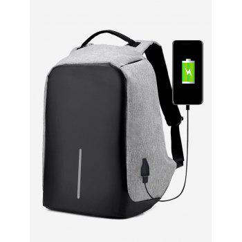 USB Charging Port Straight Line Backpack