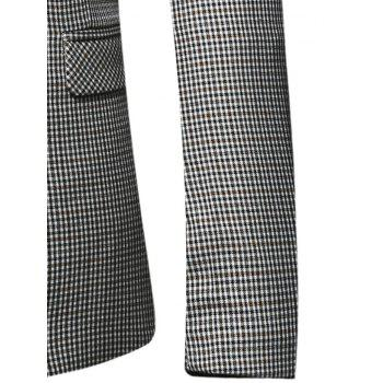 Flap Pocket Single Breasted Check Blazer - CHECKED CHECKED