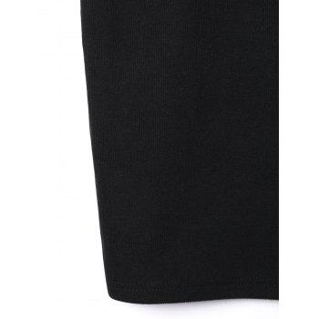 Broderie V Neck Slip Dress - Noir L