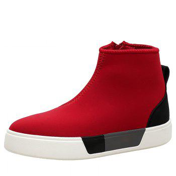 High Top Color Block Skate Shoes - RED 41