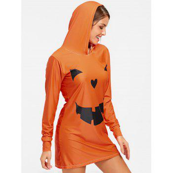 Robe de salon à capuche Halloween Deveil - CITROUILLE L