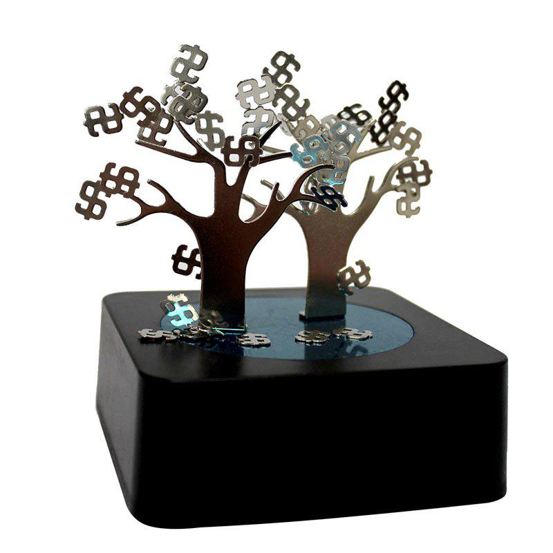 DIY Creative Puzzle Money Tree Shaped Magnetic Sculpture - BLACK
