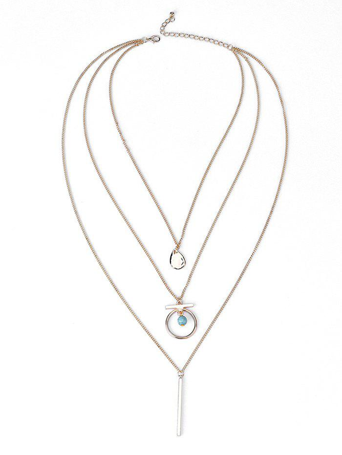 Bar Three Layered Necklace - GOLDEN