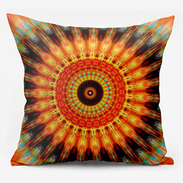 Mandala Flower Pattern Coussin carré - Orange W22 INCH * L22 INCH
